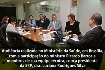 Sociedade Brasileira de Pediatria Ministério da Saúde 2016