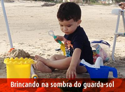 Praia, sol, mar, cuidados com as crianças SPRS