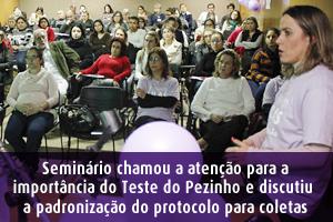 Seminário Triagem Neonatal Junho Lilás HMIPV SPRS Porto Alegre