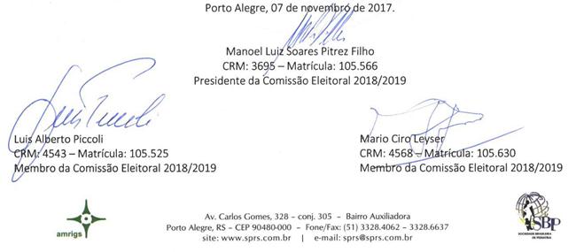 assinatura eleições
