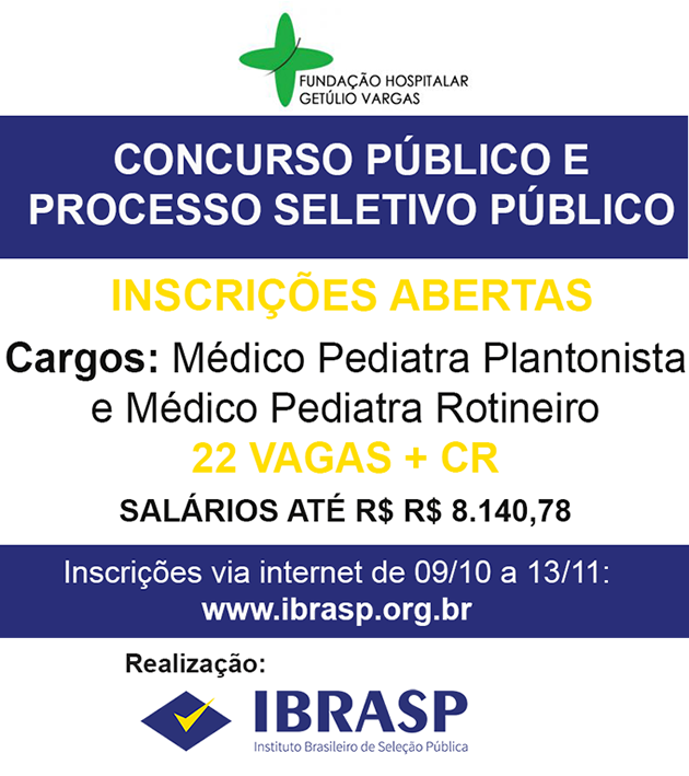 Concurso FGV 2018 Pediatras SPRS
