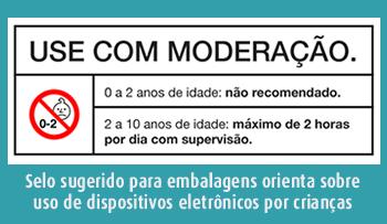 selo orientação uso eletrônicos por crianças SPRS