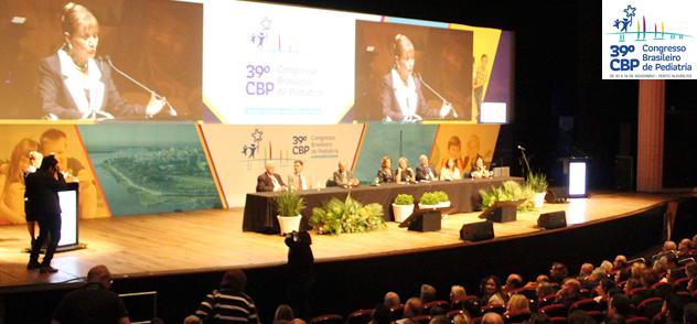 Mesa de abertura do 39. Congresso Brasileiro de Pediatria em Porto Alegre, RS SPRS SBP