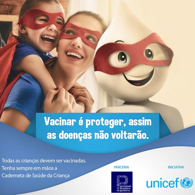 Campanha Pró-vacinação SBP e Unicef