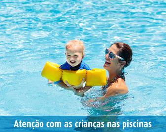 Cuidados com as crianças na piscina SPRS
