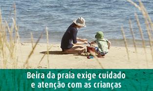 Beira da praia requer cuidados SPRS verão 2020