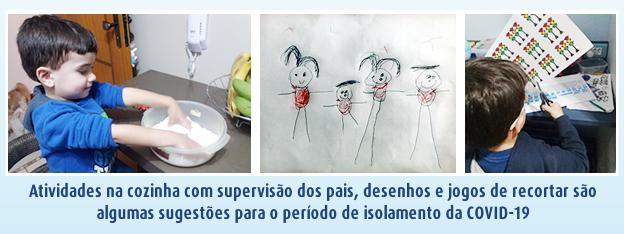 atividades para crianças no confinamento da COVID-19 SPRS